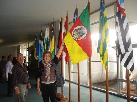 Mostrando a bandeira do meu querido Rio Grande
