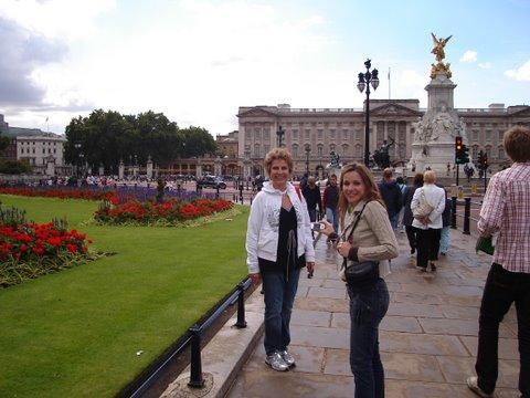Indo para o parque da rainha em Londres