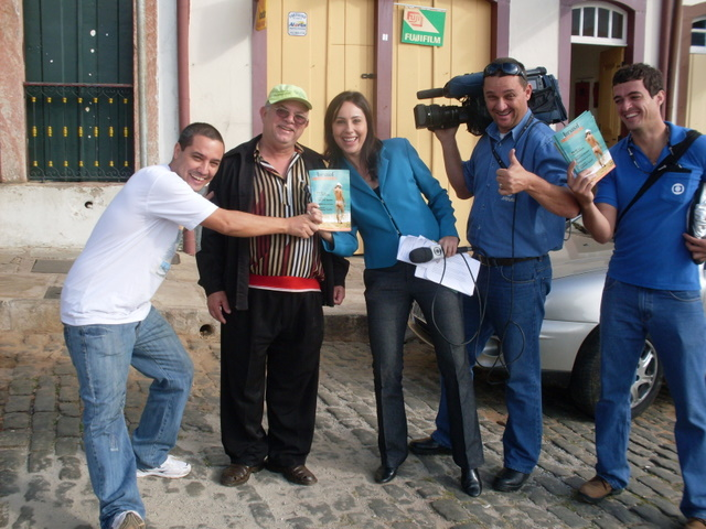 Com a reportagem de TV em Ouro Preto