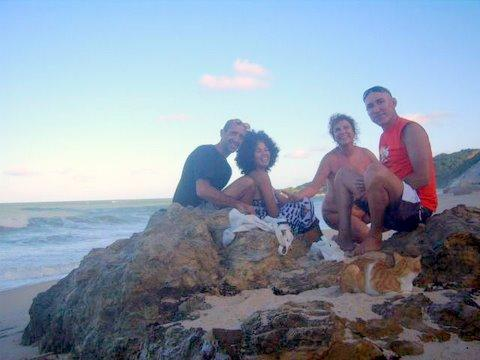 Final de tarde na praia de Arapuca