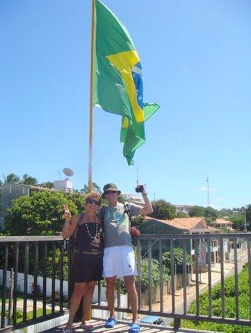 Bem lá no alto torcendo pelo Brasil