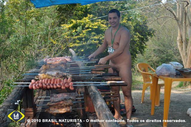 Marcelo figurante na profissão de assador