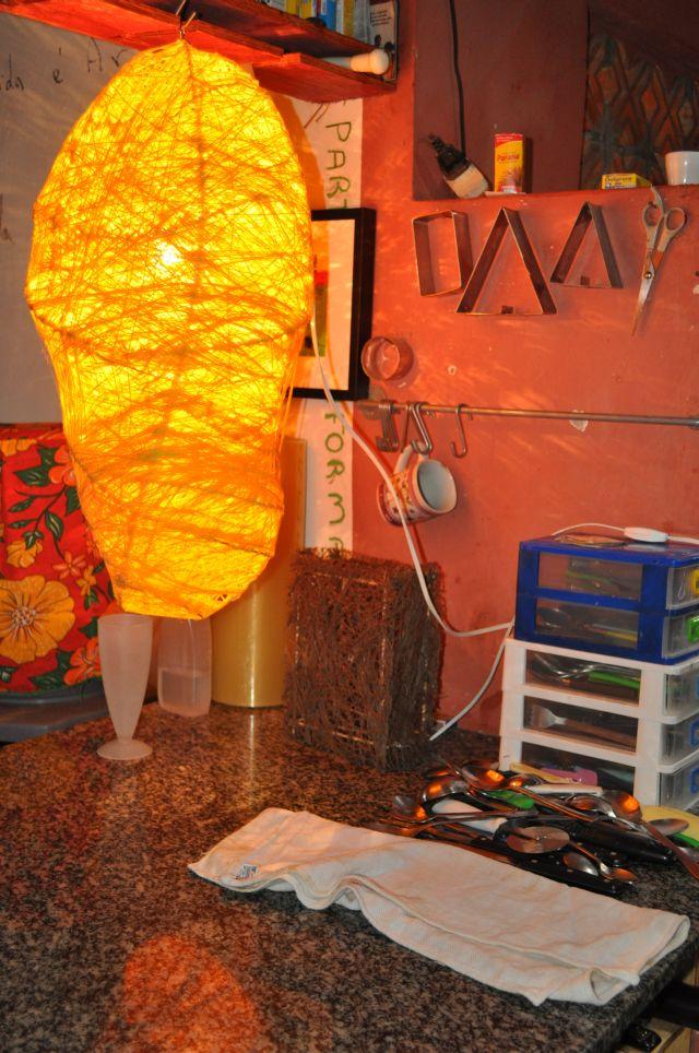 A obra iluminando a casa