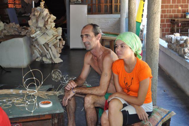 Serge e Tarciana os felizes moradores
