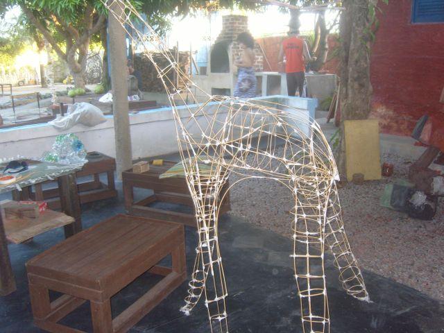 A girafa uma de suas últimas criações