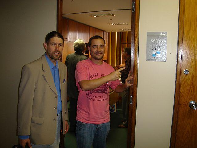 Etacir e Marcelo no gabinete de Gabeira em Brasilia