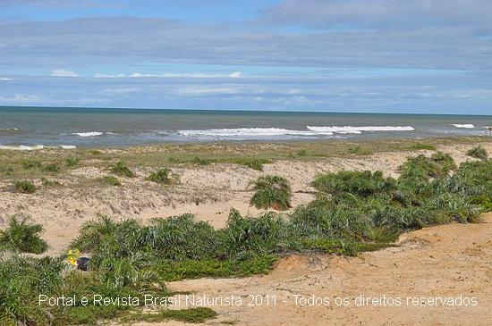 As dunas intocáveis da praia de Barra Seca