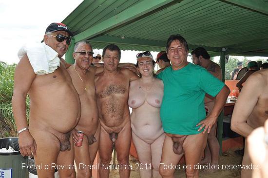 Márcio e Carmelita recebendo os naturistas do Brasil inteiro
