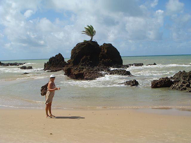 Pedra do Elefante símbolo da praia de Tambaba/PB