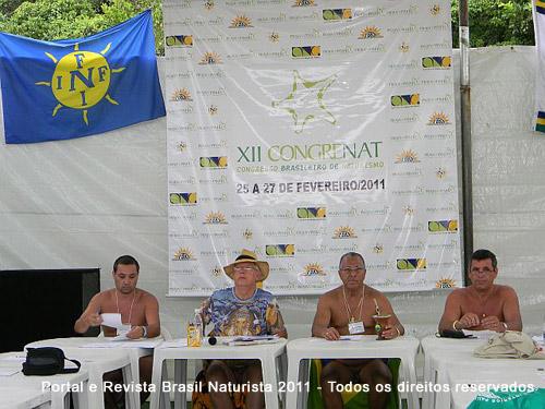 XII Congresso Nacional de Naturismo na praia do Pinho/SC