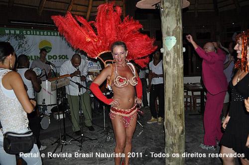 Destaques da Escola de Samba de Sapiranga no baile da Colina/RS