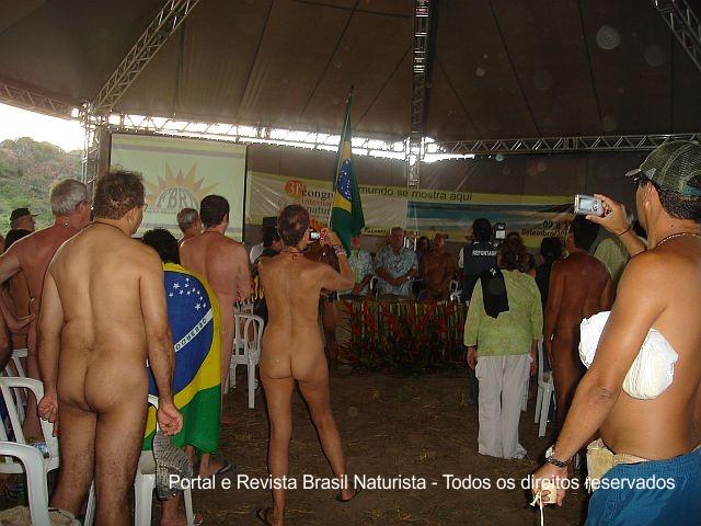 Momento único do naturismo do Brasil para o Mundo