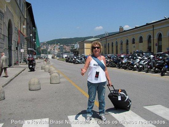 Muito chão depois pela frente, em Trieste/Itália