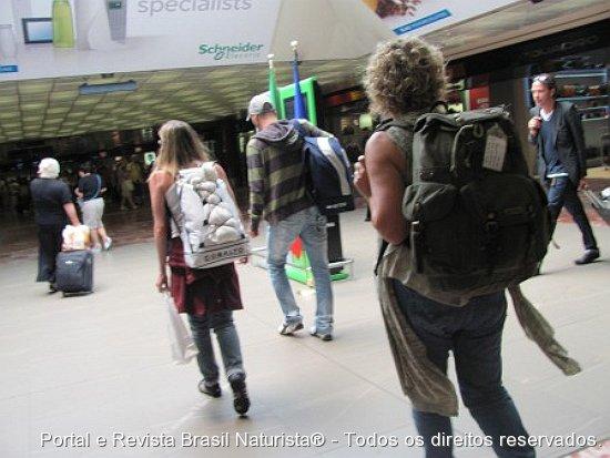 O treino foi para caminhar, com a mochila, todo o trajeto da expedição Pelados na Europa