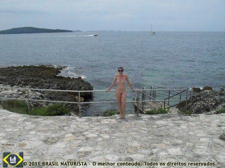 No mar Adriático/Croácia
