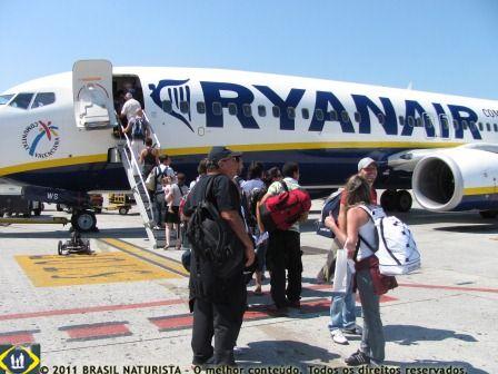 Voando nas asas da Ryanar para Barcelona/Espanha