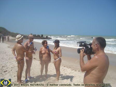 Eu e Evânio, em uma reportagem para o programa o Pânico, com enorme repercussão para o naturismo, a curiosidade do publico pelo assunto é enorme