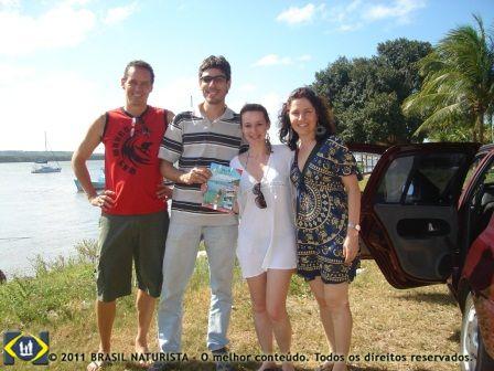 Este foi o inicio do blog com pessoas experientes como Carina e Celso trocando informações com Stefano e Fabiane no encontro naturista/2008 em Tambaba/PB