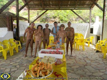 No final uma saborosa mesa de frutas nos aguardava