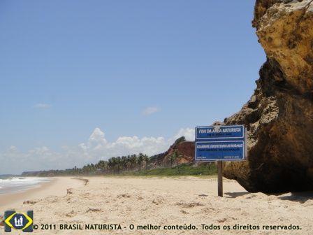 Final da praia de Tambaba inicio de praia Bela.