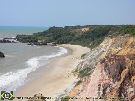 Bem ao fundo, a mata e a praia de Tambaba, com sua natureza preservada