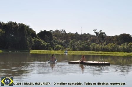 Colina do Sol/RS área do entorno do lago totalmente reflorestada pela mata nativa