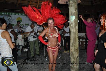 Fantasia de destaque da Escola de Samba no carnaval de Taquara/RS