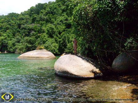 Ilha naturista de Jurubá/Parati/RJ