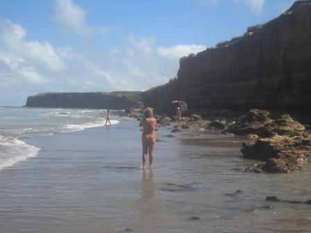 Fotografando na praia Escondida/Mar del Plata/Argentina