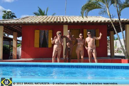 Parte naturista com o casal Lurdes e Edilson donos da pousada Rio e Mar