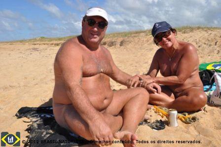 Fernando e Ceir na praia de Barra Seca/Espirito Santo