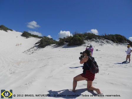 Eu registrei as mais lindas imagens de um momento único, de uma caminhada pelas dunas