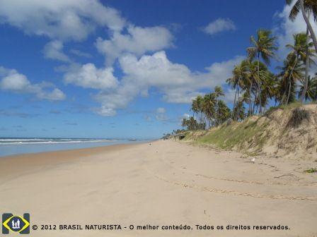 Praia de Massarandupió litoral norte da Bahia, municipio de Entre Rios
