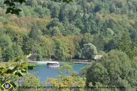 Uma floresta densa margeia os lagos...