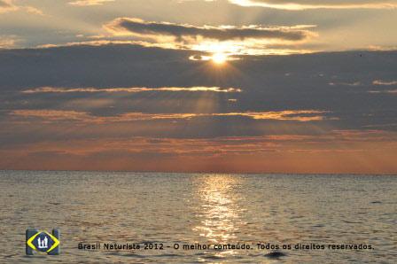 O astro sol dando seu show no fim do dia...