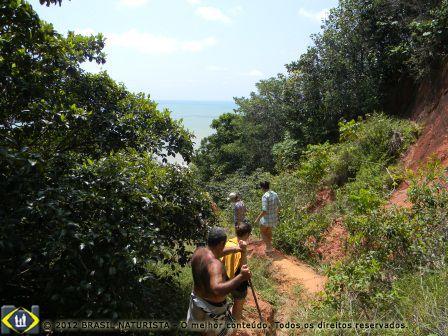 Busque a aventura na trilha das Falésias em Tambaba/Paraíba