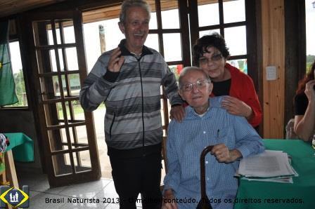 Otávio e Zenir junto com o Carneiro no almoço de confraternização e homenagens...