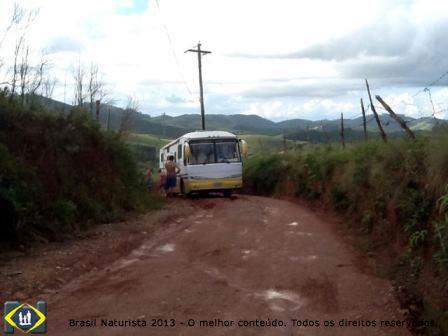 Subindo a estrada para o Rincão Naturista/SP