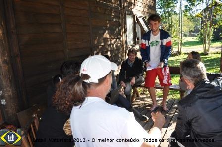 Reunião dos jovens colinenses com a diretoria do Clube Naturista Colina dos Sol