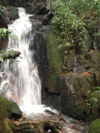 O véu da cachoeira