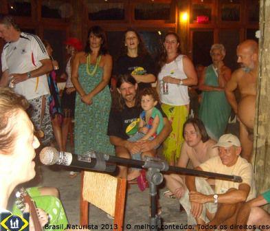 Na festa do Encontro Latino Americano de Naturismo - ELAN