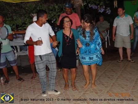 Noite de samba de roda com os participantes do II ENNN na pousada Quinta das Flores em Massarandupó