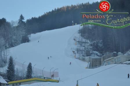 Pistas de esqui alpino nos Alpes Áustriaco.