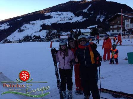 Fazendo aula de esqui em Ramsau/Áustria