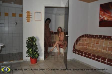 Primeiro é a sauna...