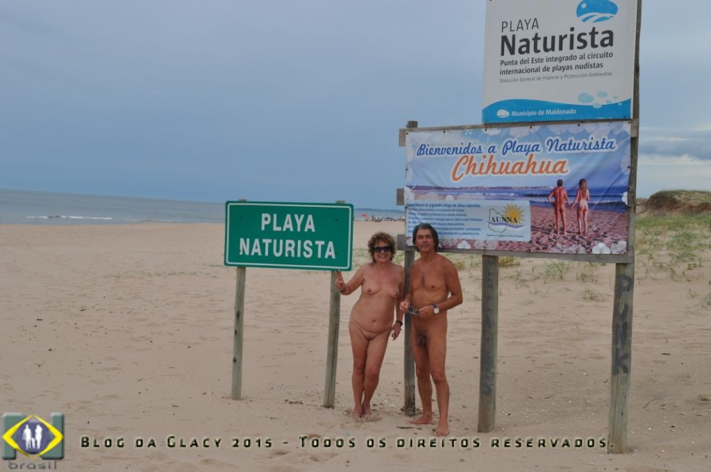 Praia oficial de nudez opcional em Punta Del Este - Uruguai